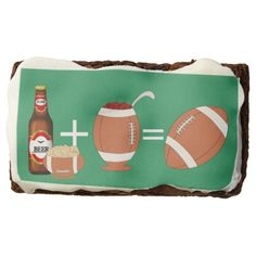Beer chips and chili football brownie