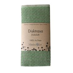 Linen Disktrasa Dishcloth - Leaf Green