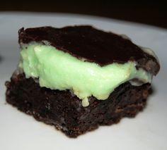 Brownie con Crema de Menta y Ganaché de Chocolate