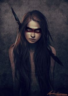 """Inspiration piece by Charlie Bowater I used it as a character model for Hontas ~the title character of """"Hontas: Good Tales For Bad Dreams""""  http://amzn.com/B00P1SQQ7M"""