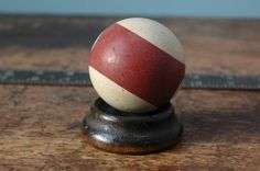 53ba97c634 Old Clay Stone Pool Ball 15 Number XV Fifteen 2.25