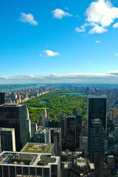 8am view of Central Park from the Top of The Rock. - New York City Feelings