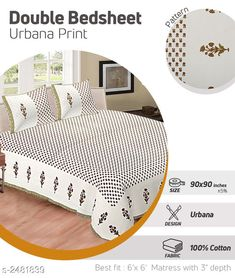 Bedsheets Dream Home Modern Cotton Double Bedsheet Fabric: Bedsheet - Cotton Pillow Covers - Cotton Dimension: ( L X W ) - Bedsheet - 100 X 108  in Pillow Cover - 27 in x 17 in Description: It Has 1 Piece Of Double Bedsheets With 2 Pieces Of Pillow Covers Work: Printed  Thread Count: 200 Country of Origin: India Sizes Available: Free Size   Catalog Rating: ★4.2 (466)  Catalog Name: Free Mask Riya Dream Home Modern Cotton Double Bedsheets Vol 3 CatalogID_333393 C53-SC1101 Code: 645-2481839-