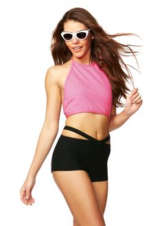 Hot Spot Pink Polka Halter Top X American Deadstock OMG Is that #Deadstock? Duh! SHOP #Sunglasses #Tops #Bottoms #Skirts #Bodysuits #Apparel #Accessories & More!