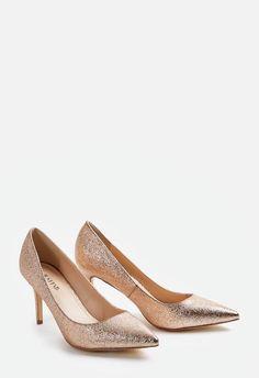 Chaussures Teyla Pump en Rose doré - Livraison gratuite sur JustFab
