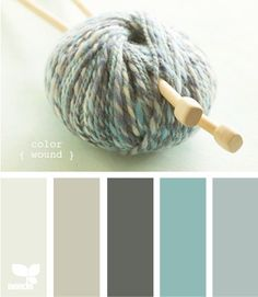 Exactly the colors  I just painted my kitchen. Dark lower cabinets, light uppers and sea glass back splash