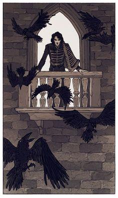The Raven lord (c) Lenka Simeckova Illustration