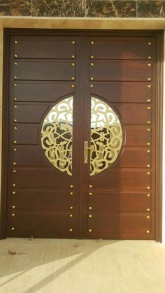 Pin By Mohd El On Doors Puertas Principales Puertas Puertas Exterior Wooden Main Door Design, Double Door Design, Main Gate Design, Door Gate Design, Front Door Design, Entrance Design, Pooja Room Door Design, Door Design Interior, Interior Doors