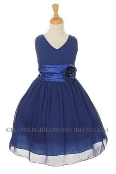 Classic in design- We love it- Dress is chiffon with satin charmeuse details on…