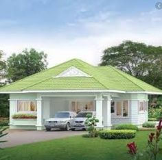house design home Bungalow Haus Design, Modern Bungalow House, Bungalow House Plans, House Roof Design, Small House Design, Cool House Designs, My House Plans, Modern House Plans, Small House Plans