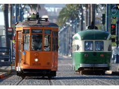 Streetcars on Market st. San Francisco