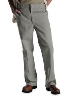 Dickies Silver Classic Fit Original 874174  Work Flat Front Non-Iron Pants