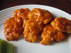 Boneless Baked Buffalo Wings - super simple and delicious!