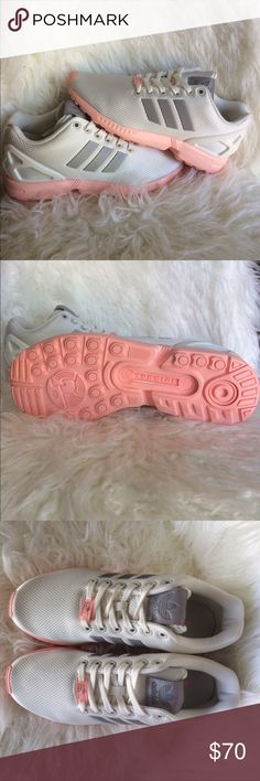 Women's adidas Flux Women's Adidas Flux size 7. Brand new, never worn. Off white cream, grey, pink. adidas Shoes Sneakers