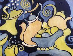 """Objetos Danzantes XIII""  - 1998 óleo sobre fibra 70 x 53 cm."