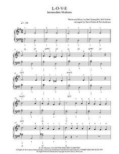 L-O-V-E by Natalie Cole Piano Sheet Music   Intermediate Level