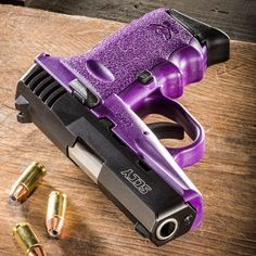 SCCY - this is my gun! I need it purple though! Purple Gun, Purple Love, All Things Purple, Girly Things, Pink Guns, Best Concealed Carry, Custom Guns, Cool Guns, Guns And Ammo