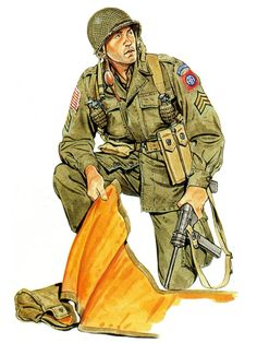 U.S. 508th Paratroopers Rgt., sergeant, Holland 1944, pin by Paolo Marzioli