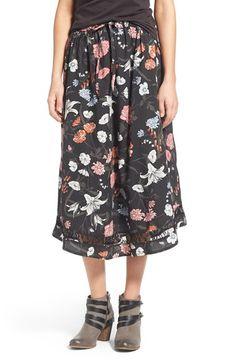 Rhythm 'Wallflower' Floral Print Skirt available at #Nordstrom