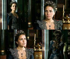 Gevherhan Sultan's blue dress w/gold lace