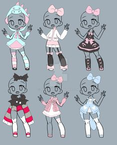 Outfit Adopt Set[Open] 2/6 by yuki-white