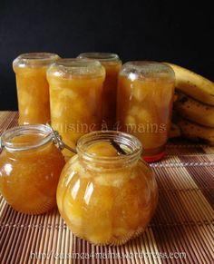 Banana jam with vanilla Banana Jam, Compote Recipe, Vegetable Drinks, Healthy Eating Tips, Cookie Desserts, Food Menu, Diy Food, Food Porn, Brunch