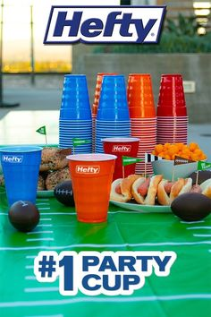 Save time on cleanup at your next party with these durable Hefty® Party Cups Nerf Birthday Party, Football Birthday, 14th Birthday, Party Cups, Big Party, Alexa Commands, Candy Centerpieces, Doctor Costume, Easy Pets