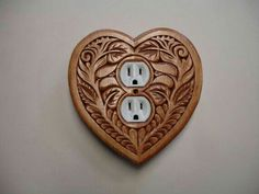 This would totally go in my place. Heart shaped, uniquely designed, electric outlet cover plate on Etsy, Switch Plate Covers, Light Switch Plates, Light Switch Covers, Chip Carving, Wood Carving, I Love Heart, Outlet Covers, Leather Projects, Laser Engraving