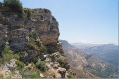 Cliff of the village of Niha in Chouf