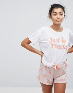 Hey Peachy Short Frill Pyjamas £23.00