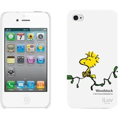 White Snoopy® Character Series Hardshell Case with Peanuts® Design for iPhone® 4/4S  iLuv ICP751WWHT  NEW!  #snoopy #woodstock #white #iPhone #case  price: $16.85