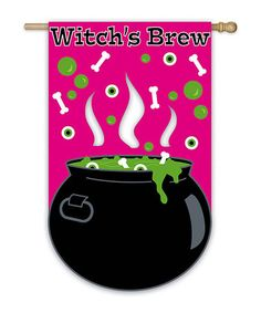 Take a look at this Witch's Brew Flag by Evergreen on #zulily today!