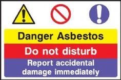 Danger Asbestos multi purpose safety sign