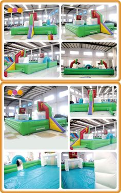 AQ1801( 12*6m    39.37'*19.69') Product description an inflatable football & basketball Stadium for kids and adults who love sports!