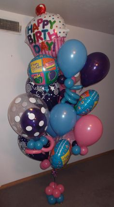 Balloons And More Large Balloon Bouquet Delivery Candy Land Gift Info Board Birthday Decorations