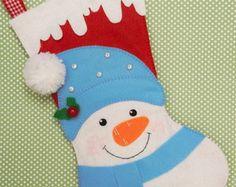Bota de Natal Boneco de neve