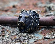 Lion head metal beads Lion paracord lanyard beads. Big