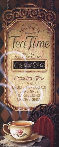Tea Time Menu **Love all 4 teas listed**