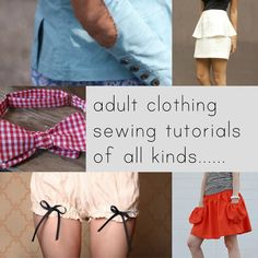 An amazing amount of Free Tutorials to sew anything from dresses to hats! Some Vintage.