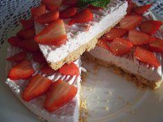 Cheesecake cu căpșuni și mascarpone