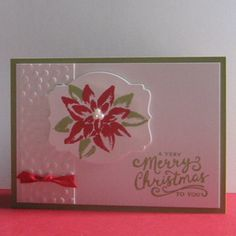 Card made with the Stampin Up Reason for the Season stamp set.