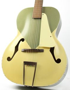 Vintage 1950's Silvertone Colorama Archtop Acoustic Guitar