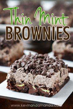Thin Mint Brownies m