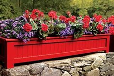 This handsome rectangular planter is made of cellular PVC trim stock to hold up to the elements. Get your how-to instructions here. | Photo: David Prince | http://thisoldhouse.com