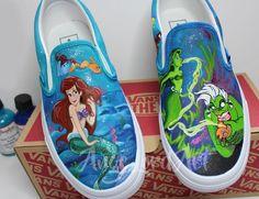 2b42ba3664f481 8 Best Little Mermaid inspired custom painted footwear images ...