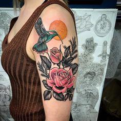 15+ Wonderful Floral Hummingbird Tattoo Ideas