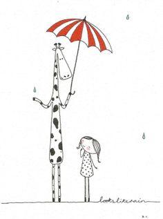 Looks Like Rain limited edition Giclee print by marniemaurri,