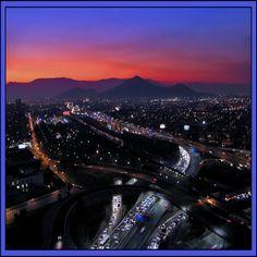 Santiago after sunset...Chile