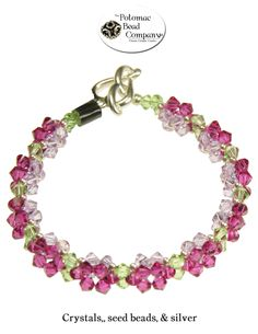 A two-layer Swarovski flower bracelet from Potomac Bead Company    www.potomacbeads.com