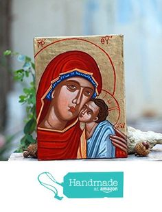Holy Mother of Mercy Theotokos Eleousa- Madonna and Child orthodox catholic gift from Angelicon https://www.amazon.com/dp/B01MDSPT2Q/ref=hnd_sw_r_pi_dp_kQQpyb7DDM0SA #handmadeatamazon
